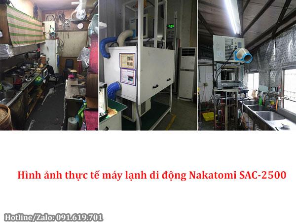 Hình ảnh thực tế máy lạnh di động Nakatomi SAC-2500