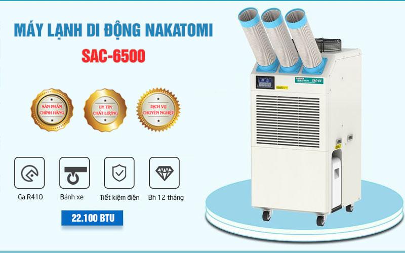 Máy lạnh di động Nakatomi SAC-6500 chính hãng
